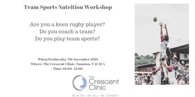 "\""Team Sports\"" Nutrition Workshop"