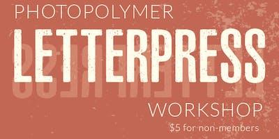 Photopolymer Letterpress Printing Workshop