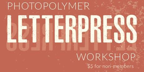 Photopolymer Letterpress Printing Workshop tickets