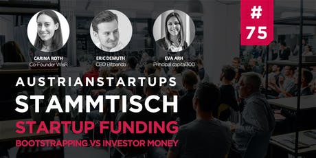 AustrianStartups Stammtisch #75: Startup Funding Tickets