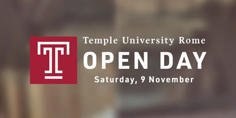 Open Day at Temple University Rome biglietti