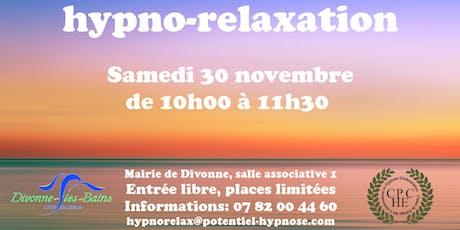 Hypno-relaxation à Divonne-les-bains 01220 billets