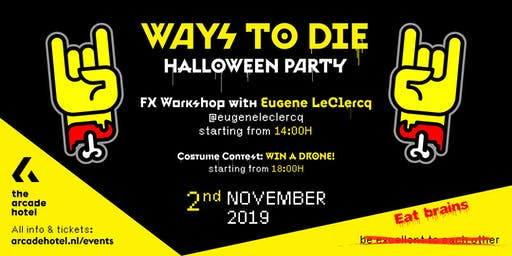 HALLOWEEN @THE ARCADE : FX MAKE UP WORKSHOP AND PARTY