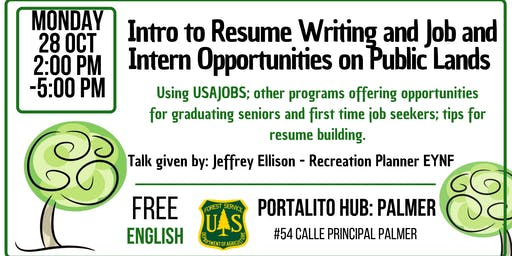 Intro to Resume Writing and Job/Intern Opportunities on Public Lands