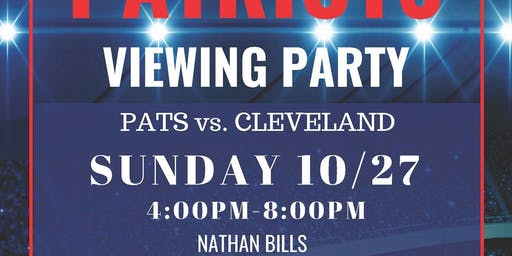 Patriots Viewing Party at Nathan Bills! Presented by PSRB LAW