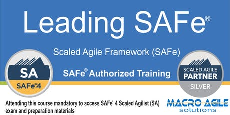 Leading SAFe® with SAFe® 4 Agilist Certification tickets