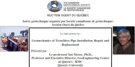 Soirée géotechnique : Geomechanics of Trenchless Pipe Installation billets
