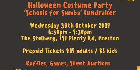 Halloween Costume Party Schools for Sumba Fundraiser tickets