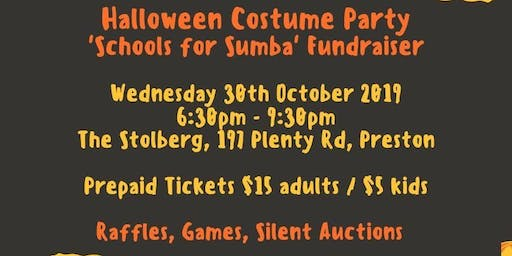 Halloween Costume Party Schools for Sumba Fundraiser