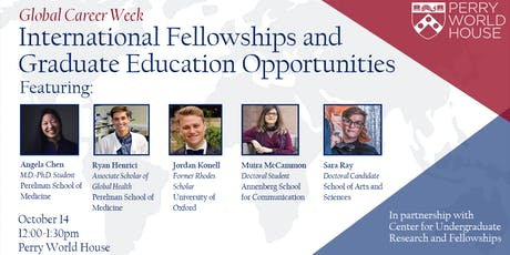 Global Career Week: International Fellowships and Graduate Education tickets