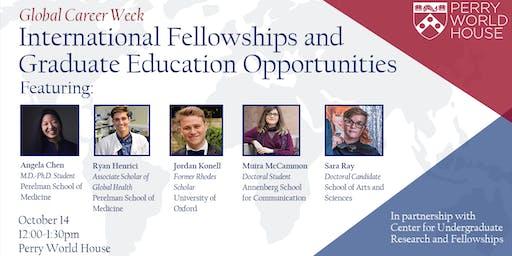 Global Career Week: International Fellowships and Graduate Education