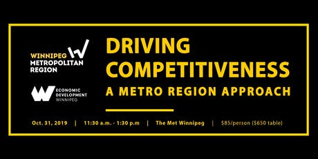 Driving Competitiveness: A METRO Region Approach tickets