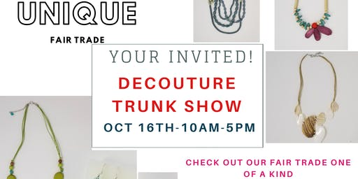 TRUNK SHOW OF FAIR TRADE DECOUTURE JEWLWERY PIECES SALE