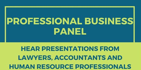 Professional Business Panel tickets