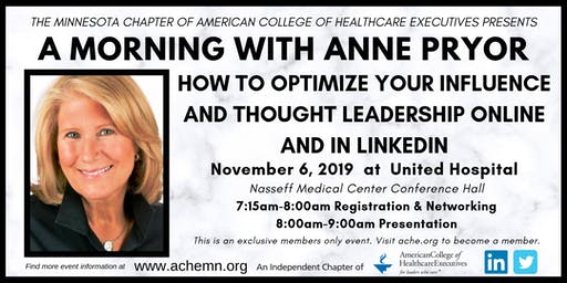 Anne Pryor: How to Optimize Your Influence and Thought Leadership Online