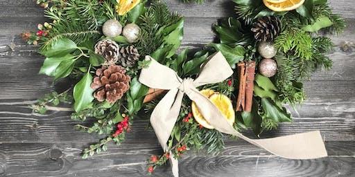 Christmas Wreath Making Workshop in aid of Elmbridge Rentstart