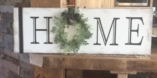 Brunch Make and Take: HOME wood signs