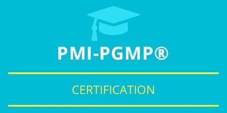 PgMP Classroom Training in Summerside, PE tickets