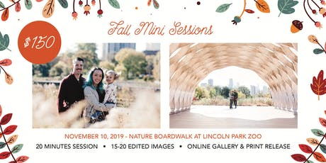 Fall Mini Sessions at Lincoln Park Zoo tickets