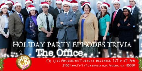 """The Office Trivia """"The Holiday Party Episodes"""" at CB Live Phoenix tickets"""