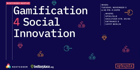 N3XTCODER Meetup Gamification 4 Social Innovation @Spielfeld Digital Hub tickets