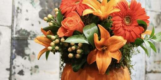 Boo and Bloom with Pumpkin Centerpieces at Willow Creek Farm
