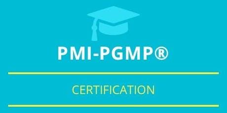 PgMP Classroom Training in Wabana, NL tickets