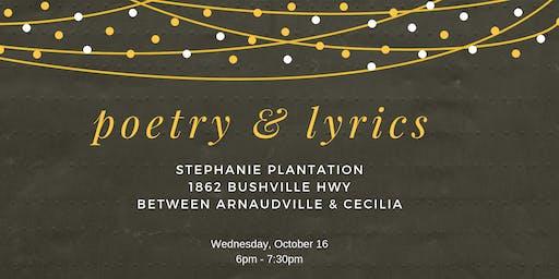 Poetry & Lyrics @ Stephanie Plantation