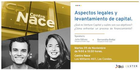 Charla Aspectos Legales del Venture Capital boletos