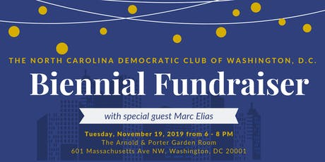 NC Democratic Club of DC Biennial Fundraiser tickets