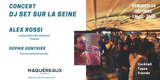 Party sur la péniche des Maquereaux / Concert w.Alex Rossi & DJ set bien Frenchie