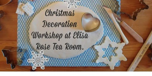 Christmas Decoration Workshop at Elisa Rose Tea Room.