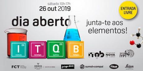 Dia Aberto ITQB NOVA 2019 bilhetes