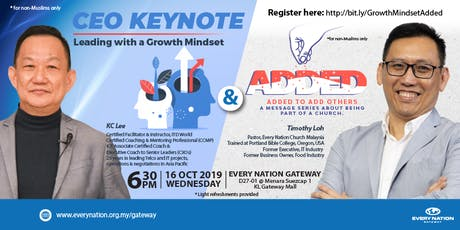 CEO Keynote: Leading from a Growth Mindset & Added tickets