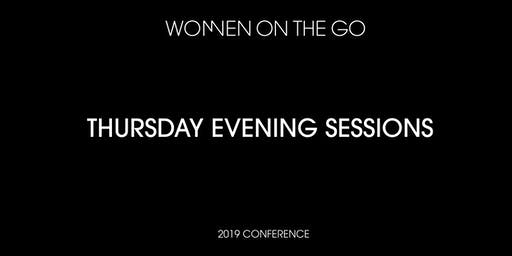 Women on the Go Conference: Thursday Evening Sessions