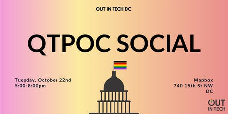 Out in Tech DC   Queer + Trans POC Social tickets