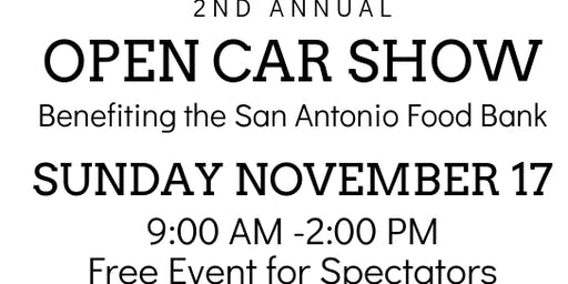 2nd Annual Open Car Show Benefiting the San Antonio Food Bank