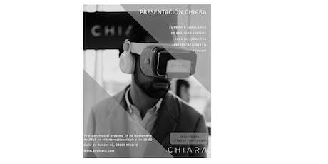 Presentación Chiara entradas