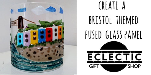 Create a Clifton Suspension Bridge & Houses Fused Glass Panel. (Adults)