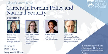 Global Career Week: Careers in Foreign Policy and National Security tickets