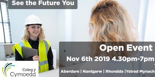 Coleg y Cymoedd Open Event  - 6 November 2019