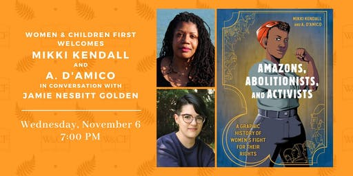 Mikki Kendall &  A. D'Amico in conversation with Jamie Nesbitt Golden