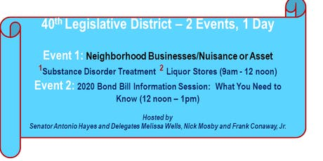 40th District Community Meeting and Bond Bill Information Session tickets