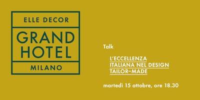 """Talk """"L'eccellenza italiana nel design tailor-made"""""""