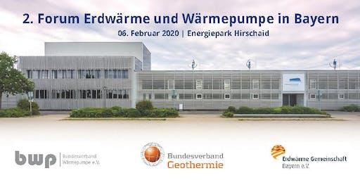 2. Fachforum Erdwärme und Wärmepumpen in Bayern