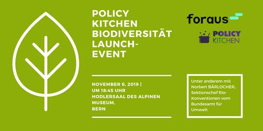 Policy Kitchen Biodiversität Launch-Event