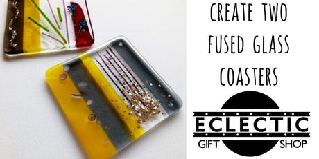 Create Two Fused Glass Coasters (Adults) tickets