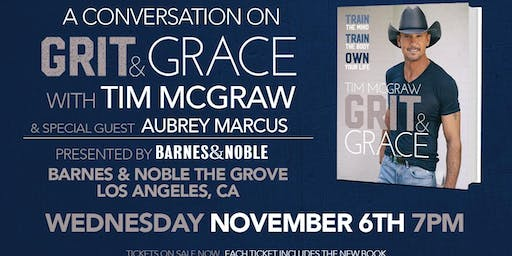 Tim McGraw discusses GRIT & GRACE at Barnes & Noble - The Grove!