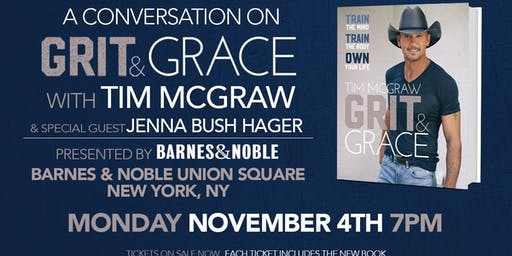 Tim McGraw discusses GRIT & GRACE at Barnes & Noble - Union Square!
