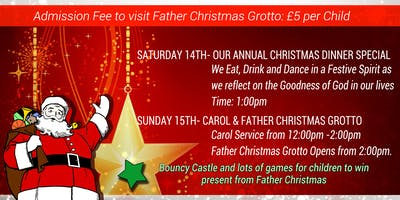 Annual christmas Dinner special with Father christmas Grotto